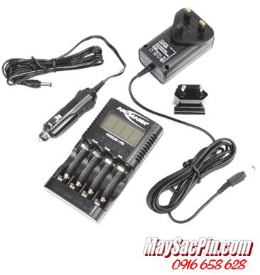 Máy sạc pin Ansman Powerline 4Pro, có màn hình LCD, đo dung lượng pin (chưa kèm pin)