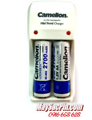 BC-1001, Bộ sạc 2 pin Camelion BC-1001 kèm 2 pin sạc AA2700mAh Lockbox| HẾT HÀNG