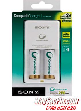 Bộ sạc pin AA 2 rảnh Sony BCG-34HW2KN kèm sẳn 2 pin sạc Sony AA2100mAh Made in Japan |CÒN HÀNG