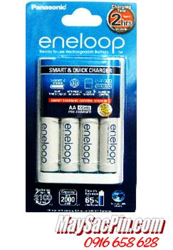 Máy sạc pin Panasonic Eneloop BQ-CC16 kèm sẳn 4 pin sạc Eneloop AA1900mAh /TẠM HẾT HÀNG