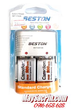 BST-C802B, Bộ sạc pin 9v Beston BST-C802B kèm 2 pin sạc Camelion 9v200mAh (cam)   HẾT HÀNG