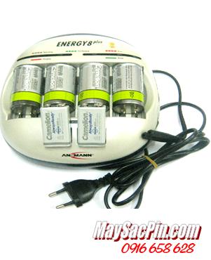 Bộ sạc pin Ansman Energy 8Plus kèm 4 pin sạc D4500mAh và 2 pin sạc 9V200mAh