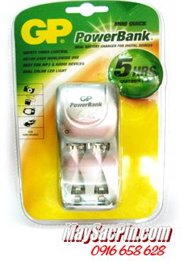 GPPB25SG-2WU1, Máy sạc nhanh 5 giờ - sạc pin AA,AAA GPPB25SG-2WU1 chính hãng Made in China