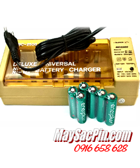 Máy sạc pin Super BC-2500, sạc được pin AA-AAA-C-D-9V kèm sẳn 6 pin sạc EnerPlus AA2700mAh