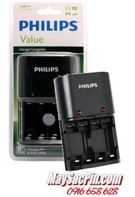Máy sạc pin Philips SCB1411NB, sạc được 2 đến 4 pin AA, AAA chính hãng Philips ( không kèm pin)