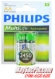 Philips R6B2A245/97, Pin sạc AA2450mAh 1.2v Philips R6B2A245/97 dung lượng 2450mAh - Made in China