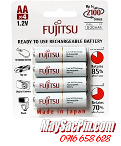 Fujitsu HR-3UTCEX(4B), Pin sạc AA1900mAh 1.2v HR-3UTCEX(4B) Made in Japan _Vỉ 4viên
