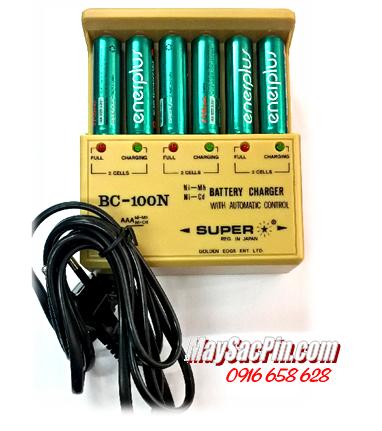 Máy sạc pin Super BC-100N, kèm sẳn 6 pin sạc EnerPlus AA2700mAh 1.2v
