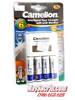 BC-1012/4AA2700MAH, Bộ sạc pin AA có màn hình LCD Camelion BC-1012 kèm sẳn 4 pin sạc Camelion AA2700mAh Lockbox 1.2v