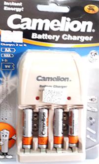 BC0904SM-4AAA1100MAH, Bộ sạc pin AAA Camelion BC-0904SM kèm sẳn 4 pin sạc Camelion AAA1100mAh 1.2v (màu cam)