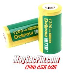 Delipow CR123A; Pin sạc 3.6v Lithium Delipow CR123A 1000mAh