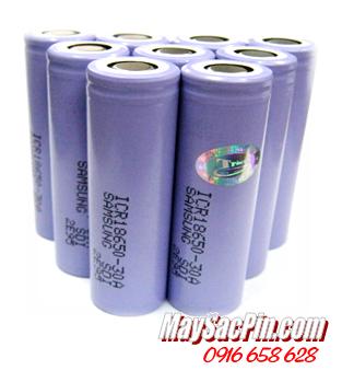 ICR18650-30A, Pin sạc 3.7v Lithium Li-Ion Samsung ICR18650-30A, 3000mAh| HẾT HÀNG