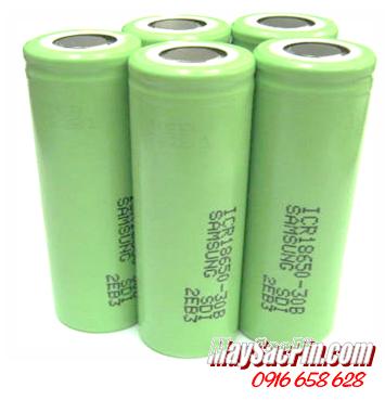 ICR18650-30B, Pin sạc 3.7v Lithium Li-Ion Samsung ICR18650-30B, 3000mAh| HẾT HÀNG