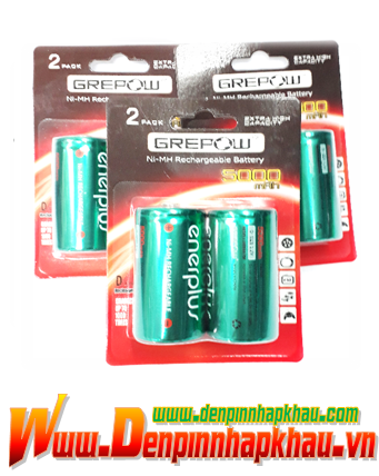 Pin sạc đại D 1.2v Grepow D5000mAh NiMh Rechargeable Battery