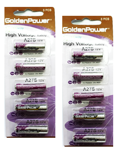 Golden Power A27, Pin 12v Remote cửa Golden Power A27 (Vĩ 5viên)