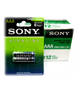 Sony AM4/ LR03; Pin Sony AM4/ LR03 Alkaline AAA 1.5v