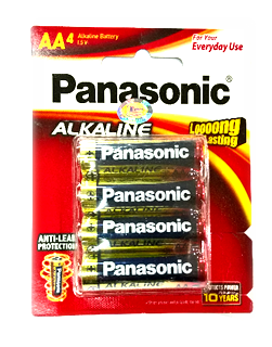 Panasonic LR6T/4B, Pin AA 1.5v Alkaline Panasonic LR6T/4B (Made in Thailand)