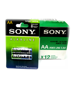 Sony AM3/LR6; Pin AA 1.5v Alkaline Sony AM3/LR6 Made in Indonesia
