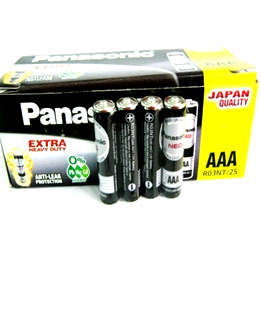 Panasonic R03NT/2S; Pin AAA 1.5v Panasonic Hi-top R03NT/2S
