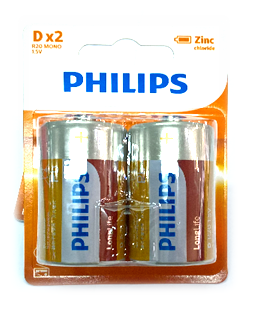 Philips R20L2B/97; Pin đại D 1.5v Philips R20L2B/97 Heavy Duty