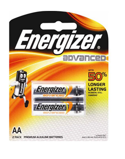 Energizer X91BP2, Pin AA 1.5v Energizer X91BP2 Advance Made in Singapore