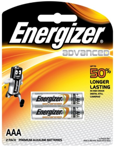 Energizer X92BP2, Pin AAA 1.5v Energizer X92BP2 Advance Made in Singapore