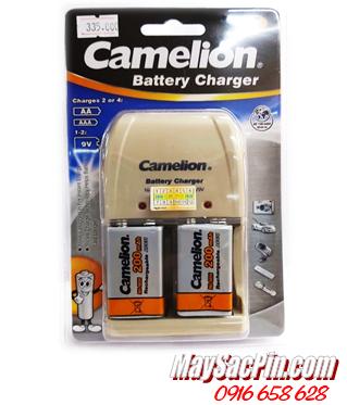 BC-0904SM, Máy sạc pin 9V Camelion BC-0904SM kèm sẳn 2 pin sạc Camelion 9V200mAh | CÒN HÀNG