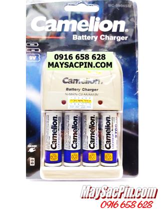 BC-0904SM (4NH-AA2700LBP2), Bộ sạc pin AA Camelion BC-0904SM, kèm 4 pin AA2700mAh LockBox