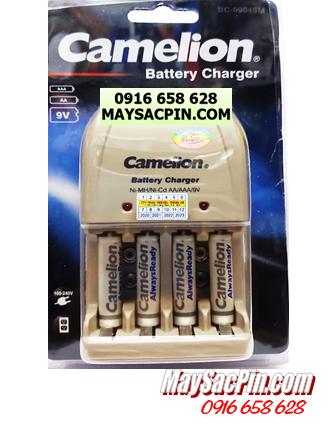 BC-0904SM (4NH-AAA900ARBP2), Bộ sạc pin AAA Camelion BC-0904SM kèm 4 pin AAA900mAh LOckbox