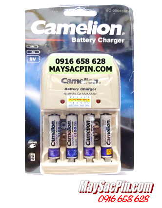 BC-0904SM (4NH-AAA1100LBP2), Bộ sạc pin Camelion BC-0904SM kèm 4 pin sạc AAA1100mAh Lockbox