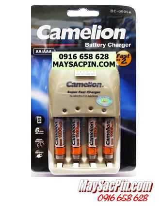 Bộ sạc pin AAA Camelion BC-0905A(4NH-AAA1100BP2), kèm sẳn 4 pin sạc Camelion NH-AAA1100BP2 (AAA1100mAh 1.2v)