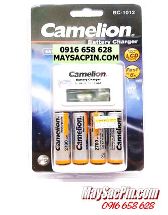 Bộ sạc pin AA Camelion BC-1012(4NH-AA2700BP2), kèm sẳn 4 pin sạc Camelion NH-AA2700BP2 (AA2700mAh 1.2v)