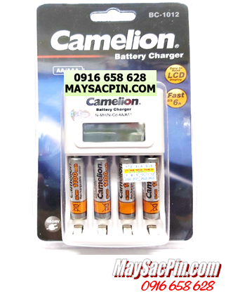 Bộ sạc pin AAA Camelion BC-1012(4NH-AAA1100BP2), kèm 4 pin sạc Camelion NH-AAA1100BP2 (AAA1100mAh)