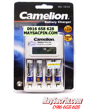 BC-1012 (4NH-AAA1100LBP2), Bộ sạc pin AAA Camelion BC-1012 kèm 4 pin AAA1100mAh Lockbox