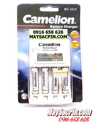 Bộ sạc pin AAA Camelion BC-1012(4NH-AAA900ARBP2), kèm 4 pin sạc Camelion NH-AAA900ARBP2 (AAA900mAh)