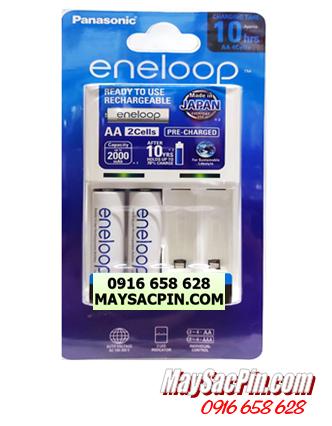 Eneloop BQ-CC51E; Máy sạc pin AA Panasonic Eneloop BQ-CC51E kèm sẳn 2 pin sạc Eneloop AA1900mAh 1.2v _Made in Japan