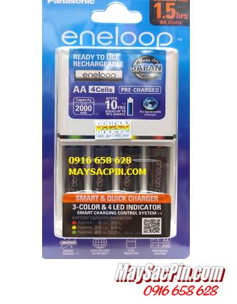 Bộ sạc pin AAA Panasonic Eneloop BQ-CC55E (4AAA950mAh), Kèm sẳn 4 pin sạc Eneloop PRO AAA950mAh 1.2v