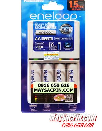 Bộ sạc pin Panasonic Eneloop BQ-CC55E, K-KJ55MCC40T sạc 1,5 giờ -kèm 4 pin Eneloop AA1900mAh| CÒN HÀNG