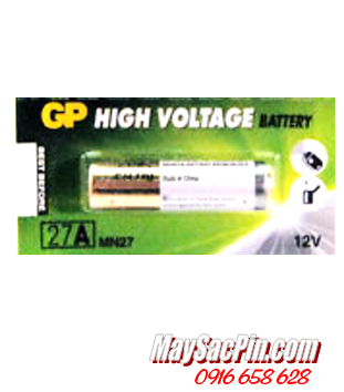 GP A27, 27AE; Pin 12v Alkaline GP A27, 27AE High Voltage_Giá/1viên
