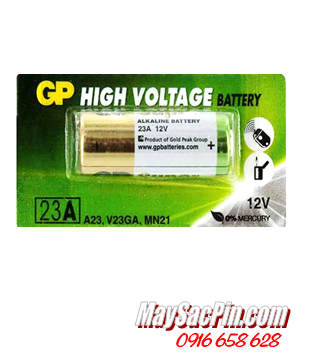 GP A23, 23AE; Pin 12v Alkaline GP A23, 23AE HIgh Voltage _Giá/1 viên