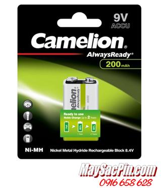 Camelion NH-9V200ARBP1, Pin sạc 9v vuông Camelion NH-9V200ARBP1 chính hãng _Vỉ 2viên