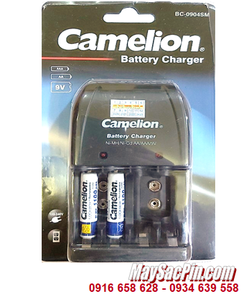 Camelion BC-0904SM _Bộ sạc pin BC-0904SM kèm 2 pin Camelion NH-AAA1100LBP2 (AAA1100mAh 1.2v)