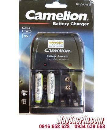 Camelion BC-0904SM _Bộ sạc pin BC-0904SM kèm 2 pin sạc Camelion NH-AAA900ARBP2 (AAA900mAh 1.2v)