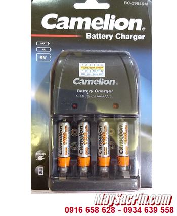 Camelion BC-0904SM _Bộ sạc pin BC-0904SM kèm 4 pin sạc Camelion NH-AAA1100BP2 (AAA1100mAh 1.2)