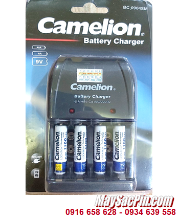 Camelion BC-0904SM _Bộ sạc pin BC-0904SM kèm 4 pin sạc Camelion NH-AAA1100LBP2 (AAA1100mAh 1.2v)