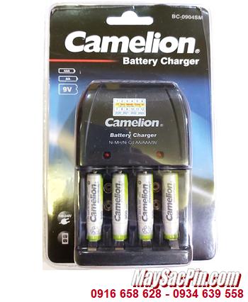Camelion BC-0904SM _Bộ sạc pin BC-0904SM kèm 4 pin sạc Camelion NH-AAA900ARBP2 (AAA900mAh 1.2v)