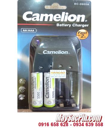 Camelion BC-0905A _Bộ sạc 2giờ BC-0905A kèm 2 pin sạc Camelion NH-AA2300ARBP2 (AA2300mAh 1.2v)
