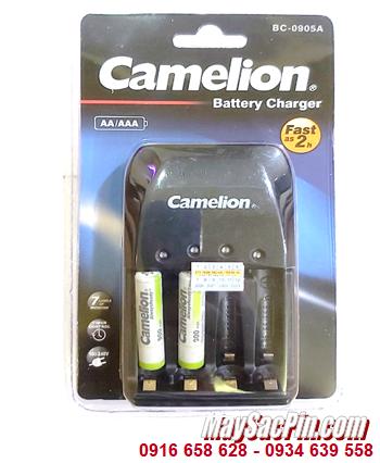 Camelion BC-0905A _Bộ sạc pin BC-0905A kèm 2 pin sạc Camelion NH-AAA900ARBP2 (AAA900mAh 1.2v)