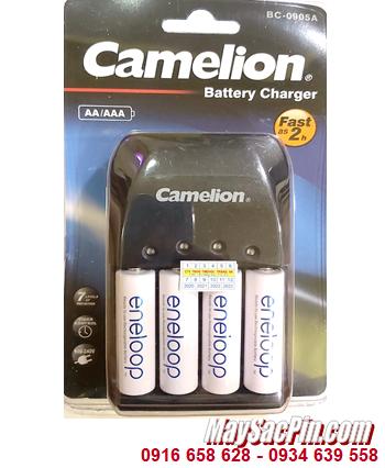Camelion BC-0905A; Bộ sạc pin BC-0905A _kèm 4 pin sạc Eneloop BK-3MCCE (AA2000mAh 1.2v)