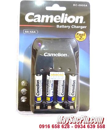 Camelion BC-0905A _Bộ sạc pin BC-0905A kèm 4 pin sạc Camelion NH-AAA1100LBP2 (AAA1100mAh 1.2v)